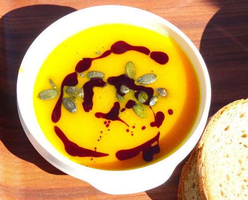 Тыквенный суп с чипсами