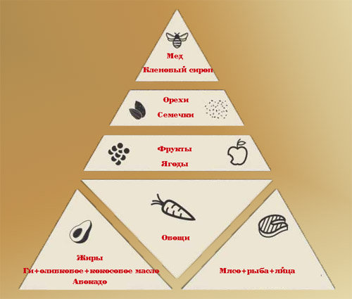 Пищевая пирамида ПАЛЕО