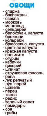 Таблица продуктов для диеты Дюкана 5