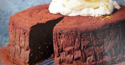 Шоколадно банановый торт