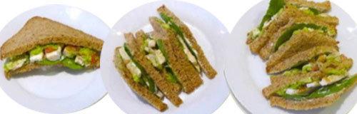 2. Сэндвич с куриным салатом