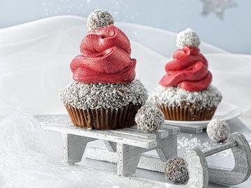 Маффины Шапка Деда Мороза