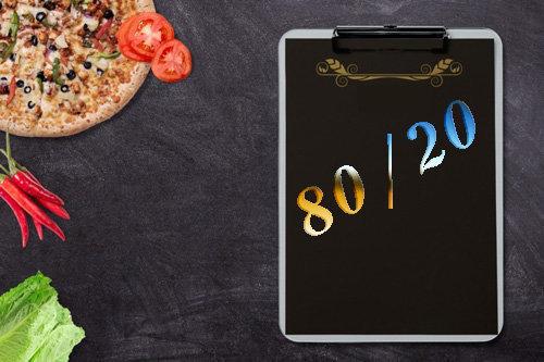 Как похудеть диета 80% 20%