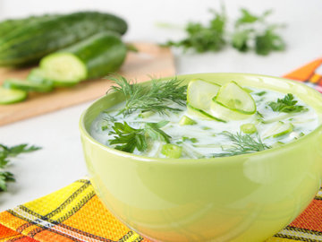 Холодный огуречный суп