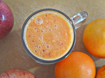 Горячий смузи с апельсином