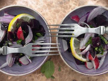 Ливанский салат из свеклы