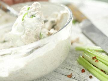 4. Размешать сливочный сыр