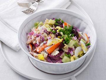Шведской салат из макарон