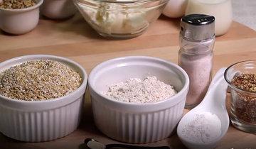 1. Ингредиенты для 4 булочек