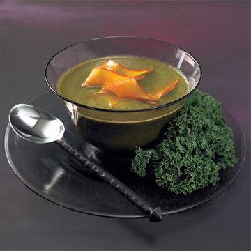 Суп из кале с карамелизированной тыквой