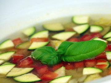 1 порция овощного постного супа