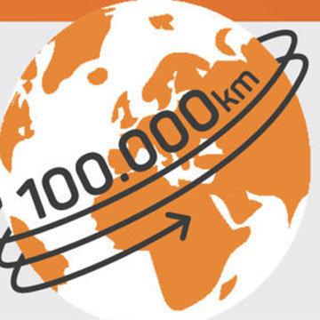 Кровеносные сосуды человека имеют общую длину около 100 000 километров