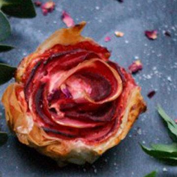 Зимние розы из овощей 3