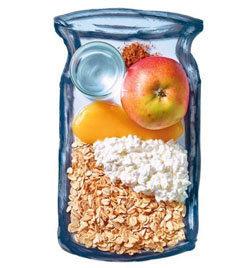 5. Овсяная каша с яблоками и корицей