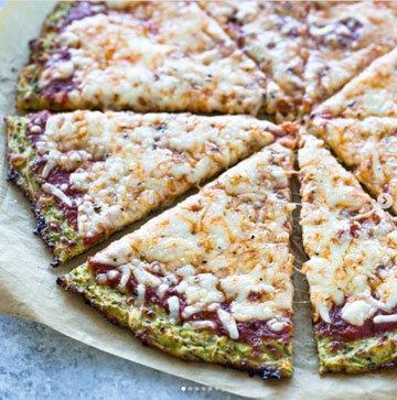 Пицца для похудения из брокколи