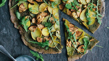 Зеленая пицца рецепт с баклажанами