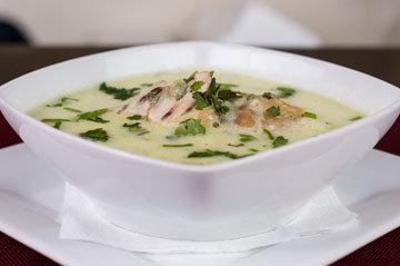 Суп из зеленых овощей