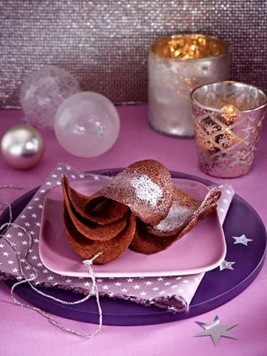 3. Тонкое шоколадное диетическое печенье