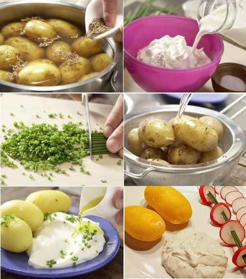 Картофель в мундире с творогом - настоящая классика