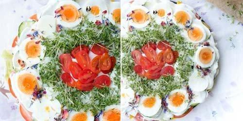 Салатный торт для низкоуглеводной диеты 1