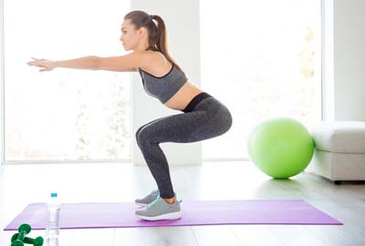 Упражнение 1 приседания