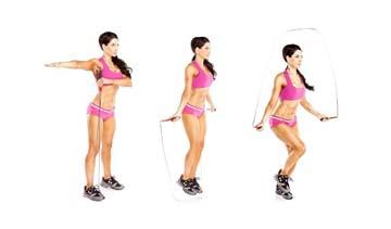 Упражнение 3 прыжки со скакалкой