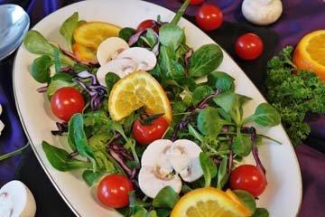 упор на овощные блюда