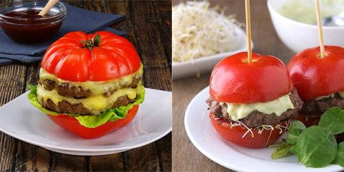 Бургер с помидорами 1