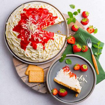 Новогодний торт Мороженое-Спагетти без выпечки