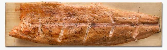 Опаленный или пламенный лосось