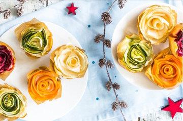 Вегетарианские тарталетки из теста фило