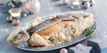 Запечь рыбу в соли