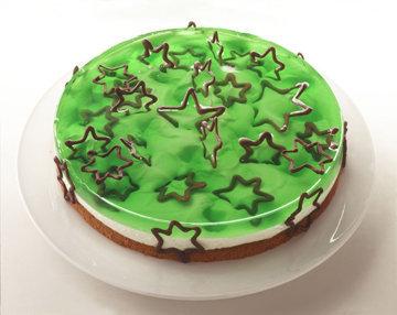 Зеленый новогодний торт
