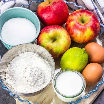 Низкокалорийный яблочный ПП пирог 1