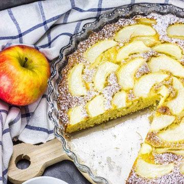 Низкокалорийный яблочный ПП пирог 4