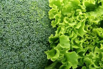 1. Зеленые овощи