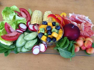 15%В ЕДЫ - количество сырых овощей, фруктов и сухофруктов