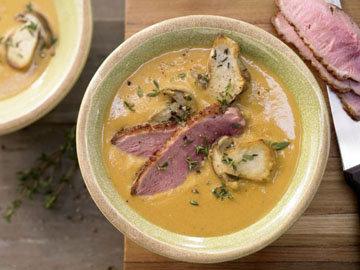 Пюрированный суп из чечевицы