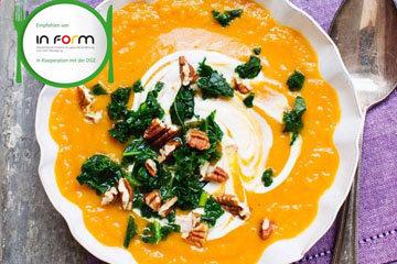 Суп из сладкого картофеля с капустой