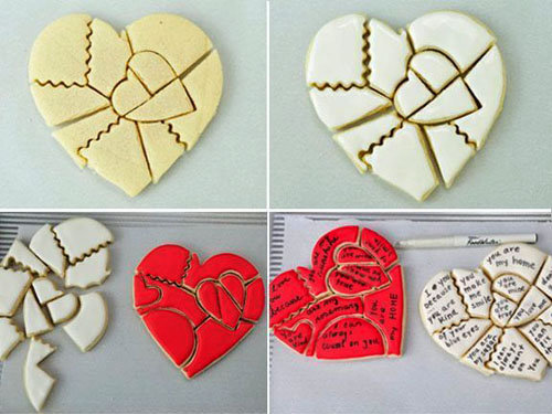Украшение блюд ко Дню святого Валентина 1