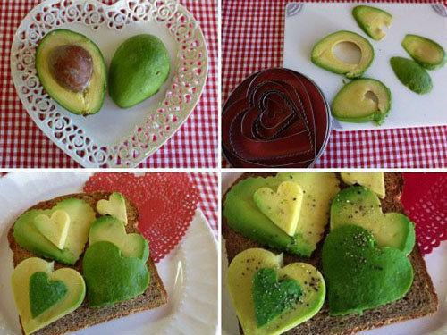 Украшение блюд ко Дню святого Валентина 2