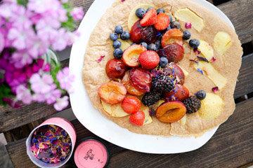 Запекать фрукты в тесте (припек)