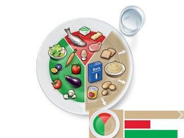 II. Модель оптимальной тарелки для взрослых с повышенным энергопотреблением