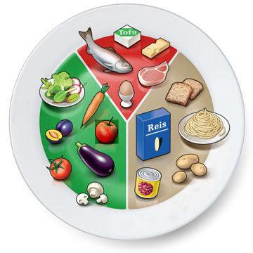 Модель тарелки для здорового и сбалансированного питания