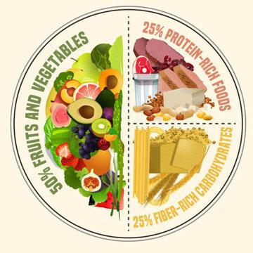 Модель тарелки - это сбалансированное питание
