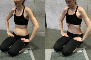 Упражнение 3 На коленях на полу