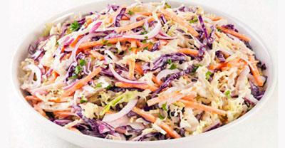 Рецепт салата из капусты - красное и белое