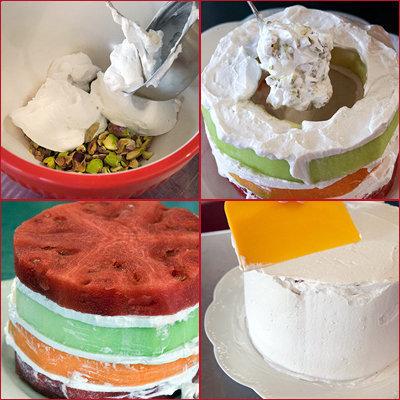 Торт без муки, с арбузом. Готовим 2