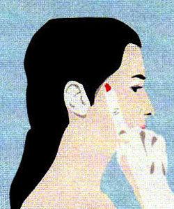 Гимнастика для мышц лица. Упражнение 1