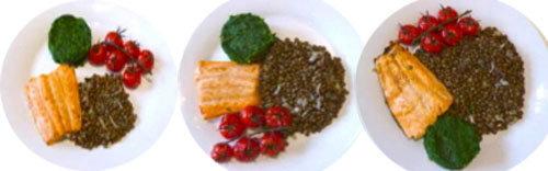 10. Чечевица с лососем